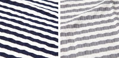 """<% metaKeywords %>&#8221; /><br /> こちらは、定番のボーダーTシャツに見えて、<br /> 生地に凹凸のある""""変わり織り""""と採用したカットソー。<br /> この凹凸感が、コーデに立体感を与えてくれて一風変わった雰囲気を作ってくれるんですね。<br /> ネックも男らしいVネックで、今季のトレンドを押さえています。<br /> 春のインナーラインナップには、ひとつ加えておきたい一枚です♪<br /> <a href="""