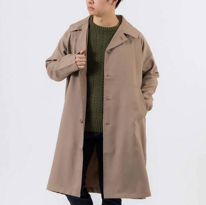 スプリングコートの特徴的な着方